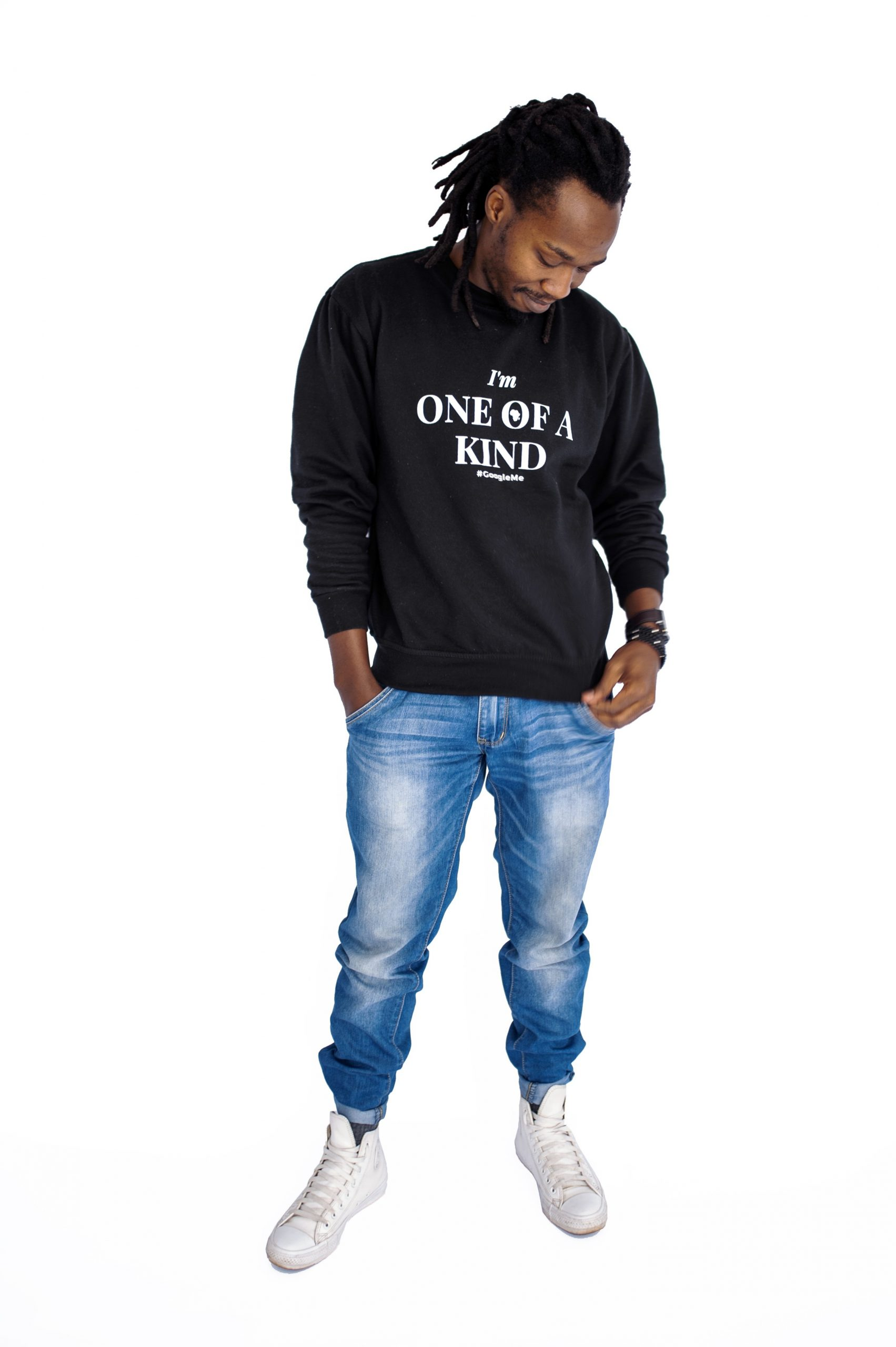 "Crew Neck ""One of a Kind"" Sweater – Black"