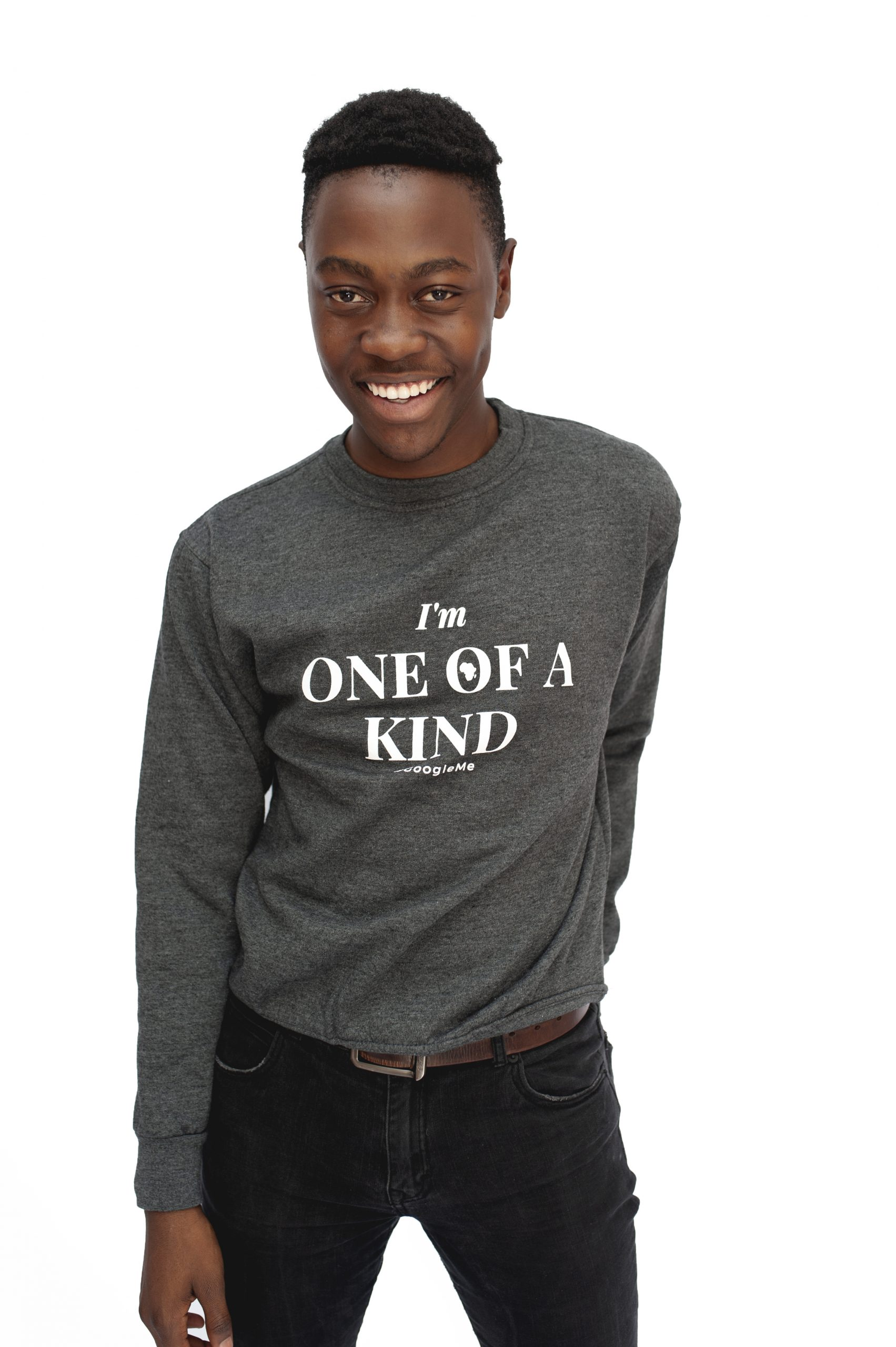 "Crew Neck ""One of a Kind"" Sweater – Grey"
